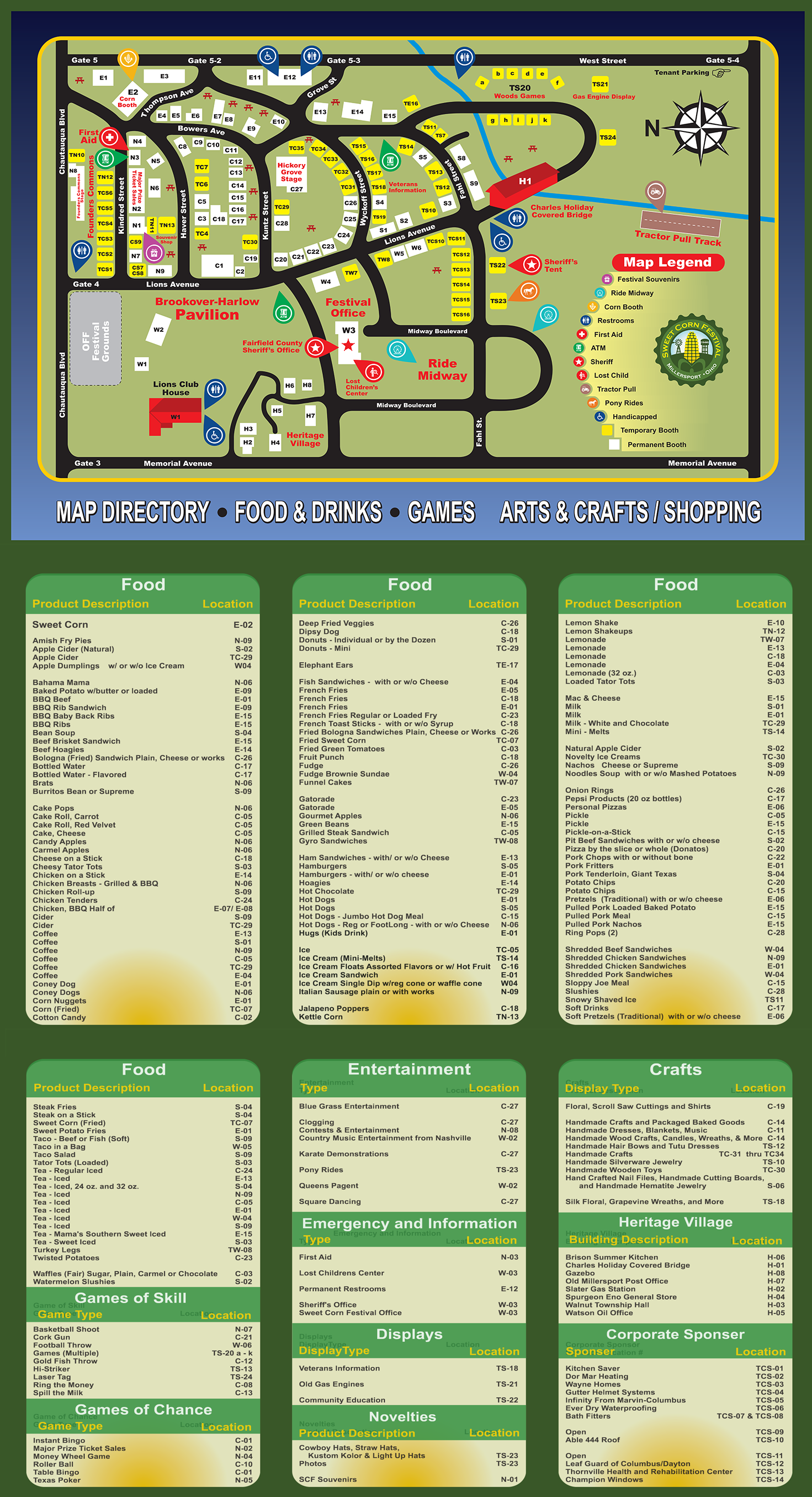Sweet Corn Festival Map