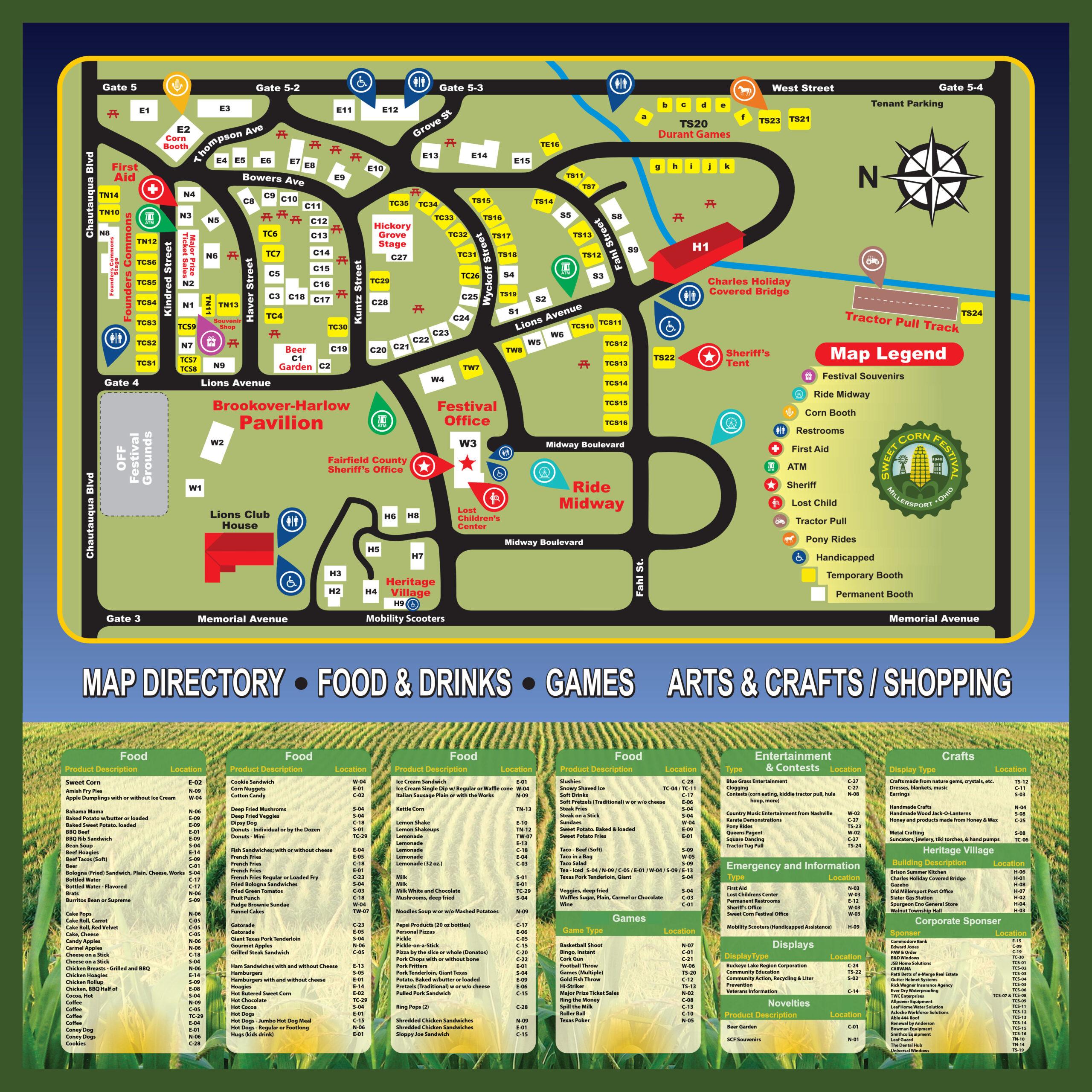 Sweet Corn Festival Map